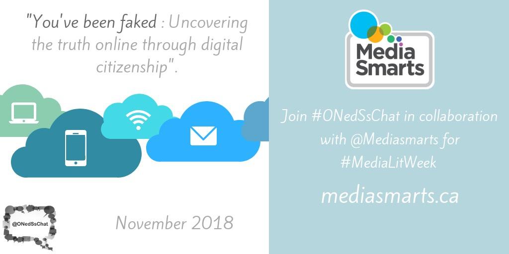 Join Us Media Literacy Week for #ONedSsChat November2018